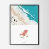 유니크 디자인 인테리어 포스터 M 여름 해변 바다 A3(중형)