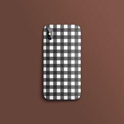 베이직 체크 블랙 슬라이드 아이폰케이스