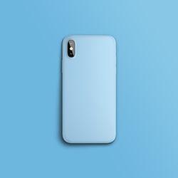 컬러 컬렉션 라이트 블루 슬라이드 아이폰케이스