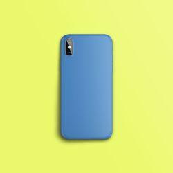 컬러 컬렉션 블루 슬라이드 아이폰케이스