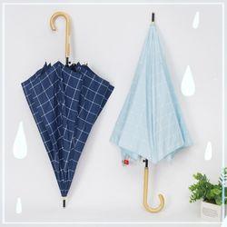베이직체크 자동 장우산 남녀공용 우산