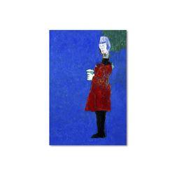 커피한잔 여자 아트웍