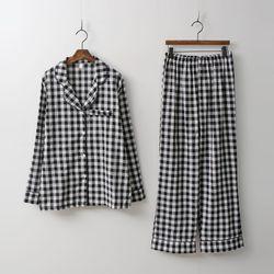 Check Pajamas Set - 커플룩