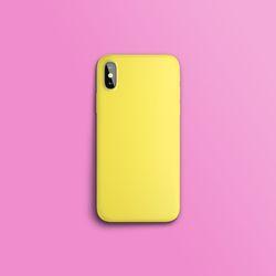 컬러 컬렉션 옐로우 하드 아이폰케이스