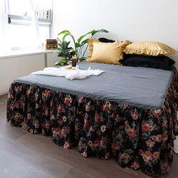 블랙마드모아젤Q  퀸 매트리스스커트 침대스커트 침대치마
