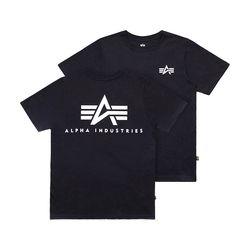 스몰 로고 반팔 티셔츠 BLACK