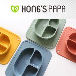 홍스파파 플래티넘 실리콘 판다 유아 흡착식판