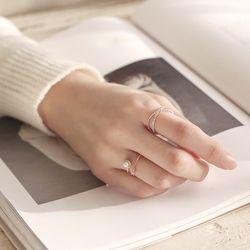 제이로렌 9R0224 큐빅 오픈형 진주 반지