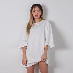 2484 남녀공용 무지 오버핏 티셔츠 (11color)