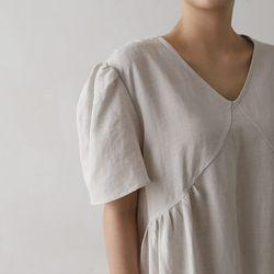 Linen Shirring Maxi Dress