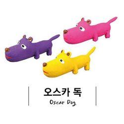 라텍스 오스카 독-색상랜덤발송삑삑이 강아지 장난감애견장난감