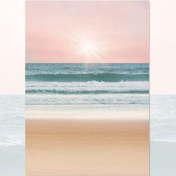 밀려오는 바다 사진포스터 (a4)