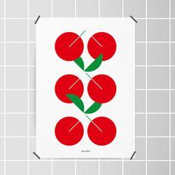유니크 디자인 인테리어 포스터 M 콤포지션5 체리 A3(중형)