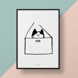 유니크 디자인 인테리어 포스터 M 고양이 호텔 A3(중형)