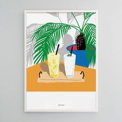 유니크 디자인 인테리어 포스터 M 레모네이드 스무디 A3(중형)