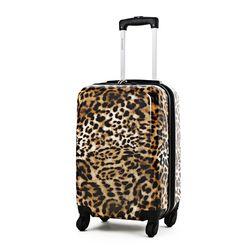 호피무늬 레오파드 TSA락 확장형 기내용 여행가방 24인치