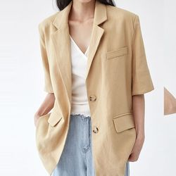 hush cool linen jacket