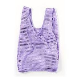 [바쿠백] 네트백 메쉬백 여름 그물가방 + 파우치 Lilac