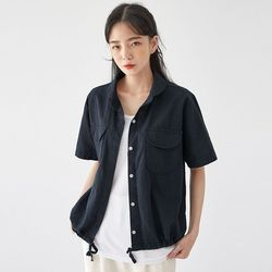 round pocket banding shirts