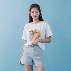 [로코식스] 마운틴 프린팅 티셔츠