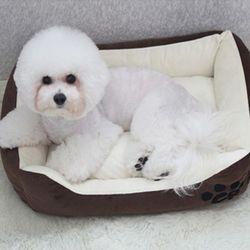 심플배색 강아지방석 쿠션 마약방석 SM -초코브라운