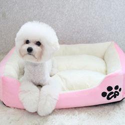 심플배색 강아지방석 쿠션 마약방석 SM -로즈핑크
