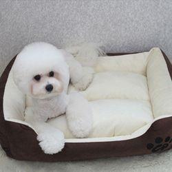 심플배색 강아지방석 쿠션 마약방석 LM -초코브라운