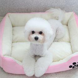 심플배색 강아지방석 쿠션 마약방석 LM -로즈핑크