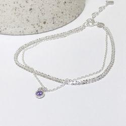 [Silver 92.5] amethyst bracelet