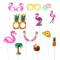 [1만원 이상 구매시 사은품] 하와이의 플라밍고 파티 프롭스 set