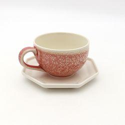 NEMO 달소금 예쁜잔 도자기 마블 카페 커피잔세트-마블핑크