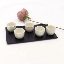 NEMO 달소금 예쁜 도자기술잔 마블그린 소주잔세트(5P)
