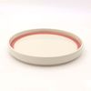 NEMO 달소금 유광 도자기그릇 마블 링 플레이팅 굽접시-마블핑크