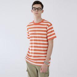 스탠시 3709-스트라이프(오렌지)티셔츠