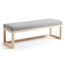 스페인직수입 로야 원목 패브릭 침대 벤치 라이트그레이