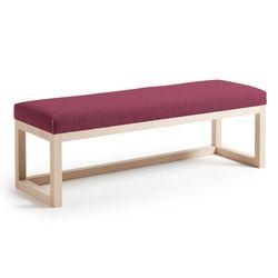 스페인직수입 로야 원목 패브릭 침대 벤치 버건디