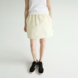 crispy texture mini skirts (2colors)
