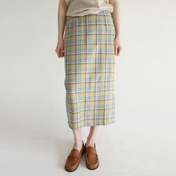 vintage mood check line skirts (2colors)
