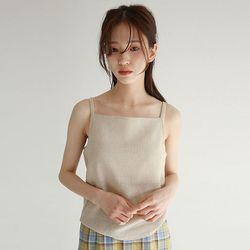boat neck basic sleevless (3colors)
