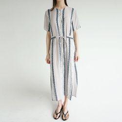 vintage pattern cozy dress (2colors)