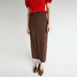 crease detail slim skirts (4colors)