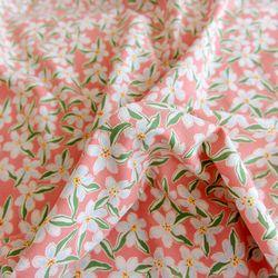 Fabric 코랄블룸 린넨 Coral Bloom Linen