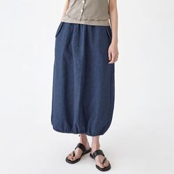 hight flare long skirt