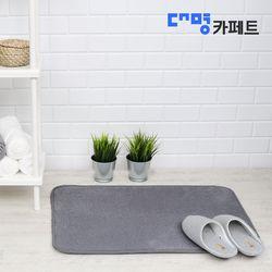대명카페트 모던 플랫 매트 그레이 발매트 50X70 ++2개+