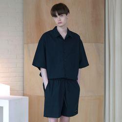 [무료배송] Minimal Regular Fit Washed Linen Shirts Navy