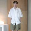 [무료배송] Minimal Regular Fit Washed Linen Shirts White