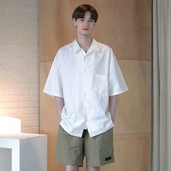 [무료배송] Minimal Regular Fit Washed Linen Shirts White