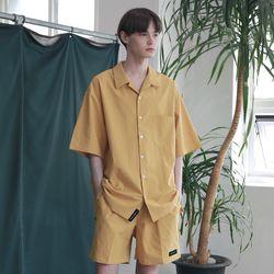 [무료배송] Minimal Regular Fit Washed Linen Shirts Mustard