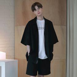 [무료배송] Oversize Washed Linen Shirts Black