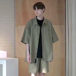 [무료배송] Oversize Washed Linen Shirts Khaki